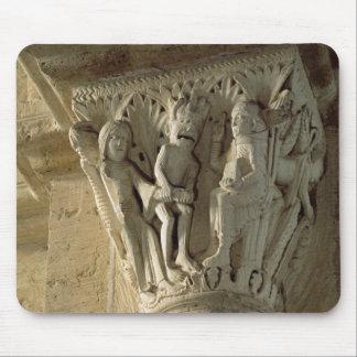 Column Capital, depicting St Benedict performing a Mouse Mat