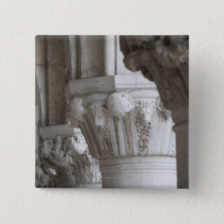 Column detail of the Doges' Palace Venice Italy 15 Cm Square Badge