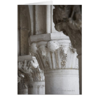 Column detail of the Doges' Palace Venice Italy Card