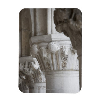 Column detail of the Doges' Palace Venice Italy Magnet