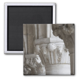 Column detail of the Doges' Palace Venice Italy Square Magnet