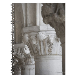 Column detail of the Doges' Palace Venice Italy Notebook