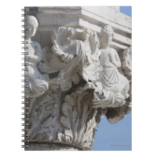 Column detail on the Doges' Palace Venice Italy Notebook