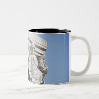 Column detail on the Doges' Palace Venice Italy Two-Tone Coffee Mug