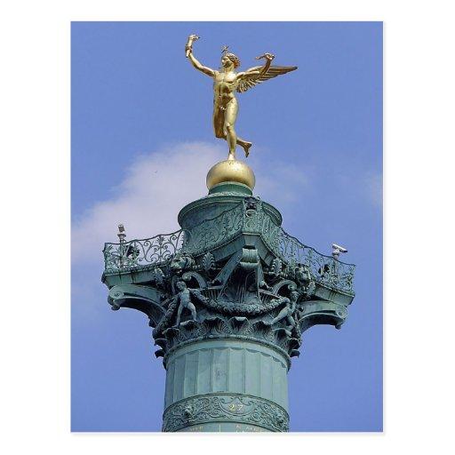 Column,  Place de la Bastill, Paris Post Cards