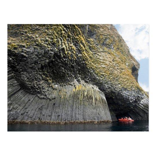 Columnar basalt formation, Akun Island, Alaska Postcard