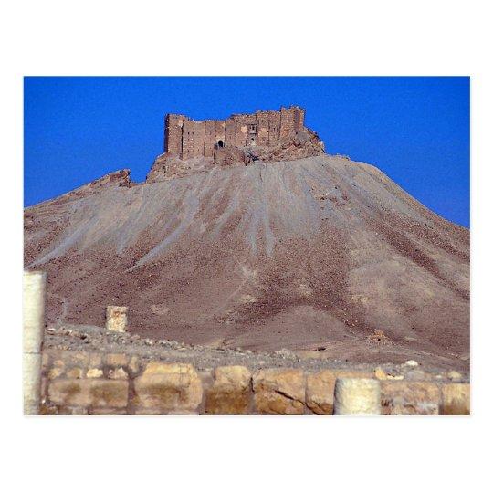 Columns and 17th century castle, Qalat ibn Maan, S Postcard