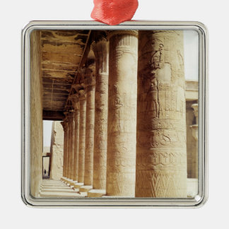 Columns in the Pronaos  of the Temple of Horus Christmas Ornament