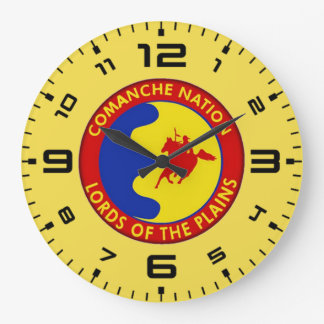Comaanche Nation Flag Large Clock