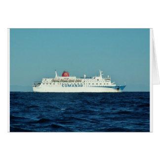 Comanav Ferry Greeting Card