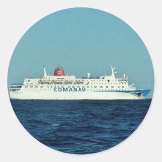 Comanav Ferry Round Sticker