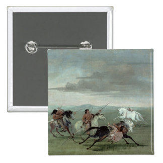 Comanche Feats of Martial Horsemanship, 1834 (oil Pinback Buttons