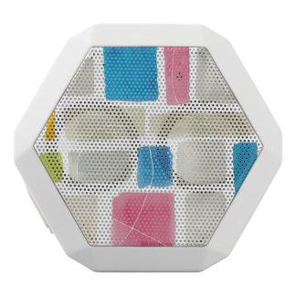 Comares III Abstract Print | Sue Schlabach White Bluetooth Speaker