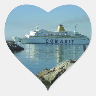 Comarit Ferry Almeria Heart Sticker