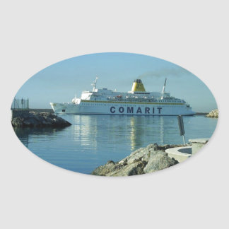 Comarit Ferry Almeria Oval Sticker