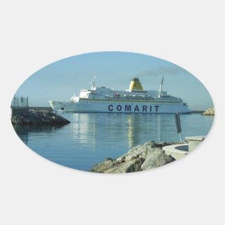 Comarit Ferry Almeria Oval Stickers