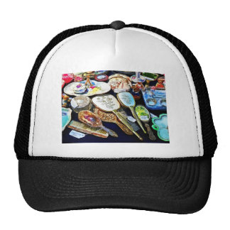 Comb Brush and Mirror Sets Mesh Hats