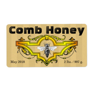 Comb Honey Strpes Label