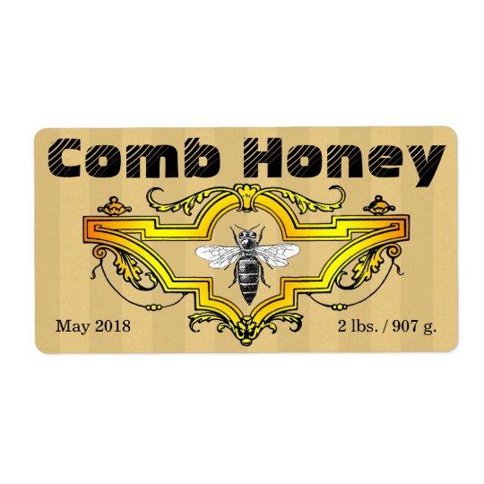 Comb Honey Strpes Label