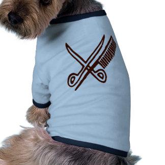 Comb & Scissors - Hairdresser Dog T Shirt