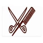 Comb & Scissors - Hairdresser Postcards