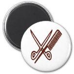 Comb & Scissors - Hairdresser Refrigerator Magnets