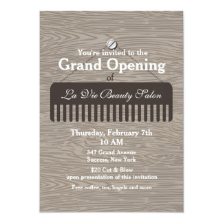 Comb Sign Salon Grand Opening Announcement