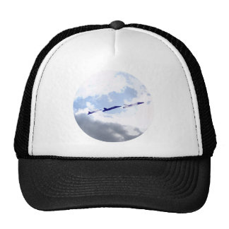 Combat aircraft of fighter jets hats