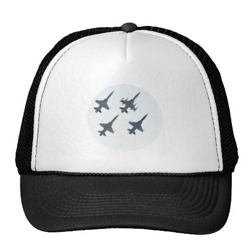 Combat aircraft of fighter jets trucker hats
