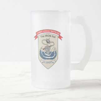 "Combat Assault Battalion ""The Iron Fist"" Frosted Glass Beer Mug"