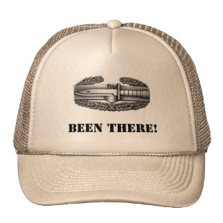 combat badge BEEN THERE Trucker Hats