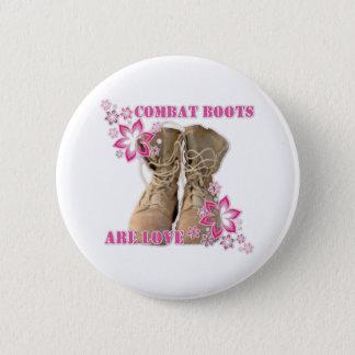 combat boots are love 6 cm round badge
