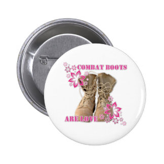 combat boots are love pinback buttons