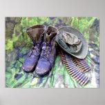 Combat boots poster