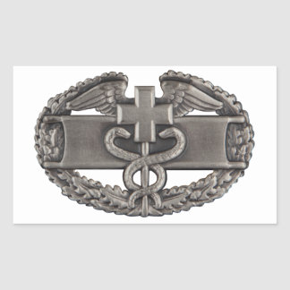 Combat Field Medical Badge (CFMB) Rectangular Sticker