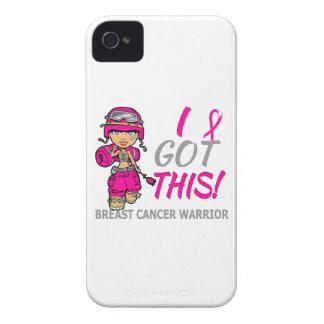 Combat Girl 2 Breast Cancer Hot Pink iPhone 4 Case-Mate Case
