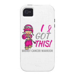 Combat Girl 2 Breast Cancer Hot Pink iPhone 4 Cases