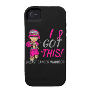 Combat Girl 2 Breast Cancer Hot Pink iPhone 4/4S Case