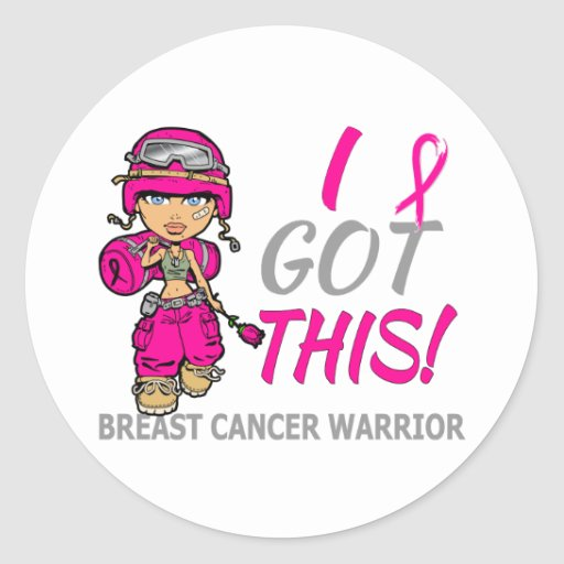 Combat Girl 2 Breast Cancer Hot Pink Stickers