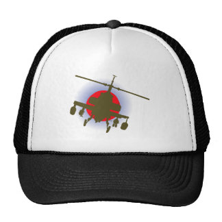 Combat helicopter fighting more helicopter trucker hats