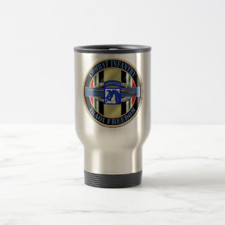Combat Infantry OIF XVIII 18th Airborne Corp Travel Mug