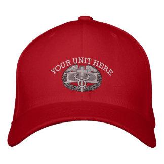 Combat Medical Badge Iraq & Afghanistan Ribbon Hat Embroidered Baseball Cap