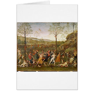 Combat of Love and Chastity by Pietro Perugino Greeting Card