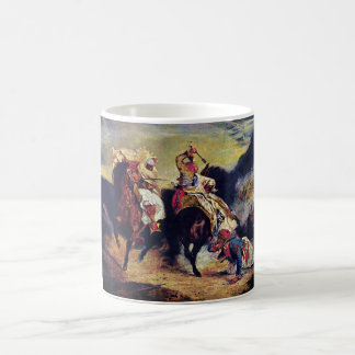 Combat of the Giaour and the Pasha by Delacroix Basic White Mug