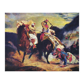 Combat of the Giaour and the Pasha by Delacroix Gallery Wrapped Canvas