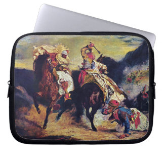 Combat of the Giaour and the Pasha by Delacroix Computer Sleeves