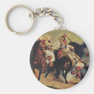 Combat of the Giaour and the Pasha Basic Round Button Key Ring