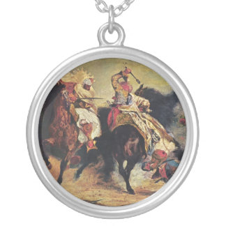 Combat of the Giaour and the Pasha Round Pendant Necklace