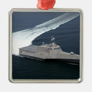 Combat ship Independence in the Gulf of Mexico Christmas Ornament