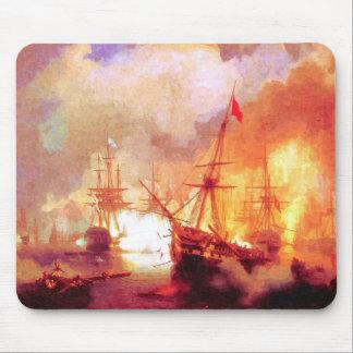 Combat ships at sea mouse pad